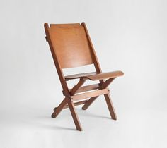 Antique Theatre Folding Chair  Mid Century Modern by Hindsvik