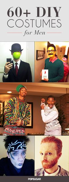 67 Wildly Creative DIY Costumes For Men. Some great ideas!