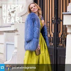 Beautiful Jojo - Catalina Grama in Paisi! Happy 2015, Midi Skirt, Fur Coat, Skirts, Jackets, Mai, Beautiful, Fashion, Atelier