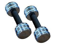 Gymenist Set of 2 Chrome Dumbbell with PVC Rubber Ring and Soft Padded Cushion Handles Pair of 2 Heavy Dumbbells 3 LB *** See this great product.