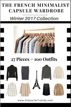"""Click Here To Return To The Blog Go To The E-Book Store  Is yourcloset full of clothes,but you """"have nothing to wear""""? You need… The French Minimalist Capsule Wardrobe e-Book: Winter 2017Collection! A complete capsule wardrobe guide for the Winterseason, With all clothes and shoes*selected for you PLUS, 100 Complete Outfit Ideas!  Clothes …"""