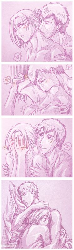 ~Annie Leonhardt and Berthold Fubar/Hoover, Attack on Titan She would never admit that she enjoyed being kissed on the nape. Found Your Weakness Attack On Titan Hoodie, Attack On Titan Comic, Attack On Titan Ships, Ymir, Ereri, Reiner And Bertholdt, Arcee Transformers, Snk Annie, Annie Leonhart