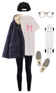 """""""c u l8r boi"""" by aliennbby on Polyvore featuring NIKE, Chicnova Fashion, Vans and Boohoo"""