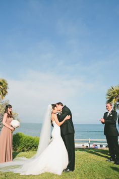 Gold and blush hued outdoor wedding in Malibu: http://www.stylemepretty.com/2014/08/01/gold-and-blush-hued-outdoor-wedding-in-malibu/ | Photography: http://www.onelove-photo.com/