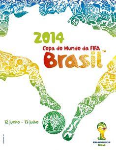Poster FIFA World Cup 2014  Designer/Artist: Crama Agency  The boys love soccer!!!