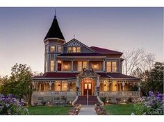 Bell House? Has third floor attic apartment space. Western turret guest room for Emma. Large, welcoming front porch.