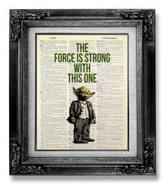 Migliore amico fidanzato regalo compleanno regalo uomo, Cool Geek regalo lui marito, arte di STAR Wars The Force è forte con un opera d'arte questo Poster di GoGoBookart su Etsy https://www.etsy.com/it/listing/172135008/migliore-amico-fidanzato-regalo