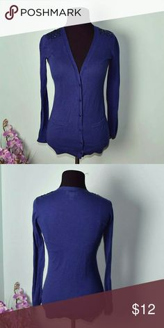 LOFT Royal Blue Cardigan Absolutely adorable. In excellent condition. LOFT Sweaters Cardigans