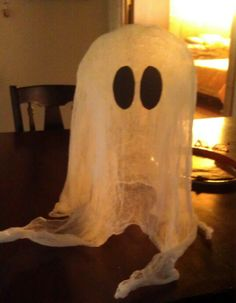Cheesecloth ghost! Actually stands on its own :-)