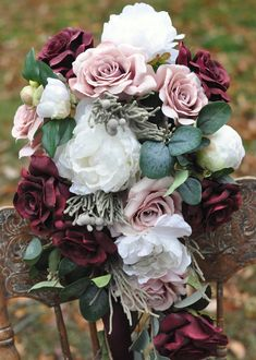Wedding Flowers Bridal Bouquet Winter by Hollysflowershoppe