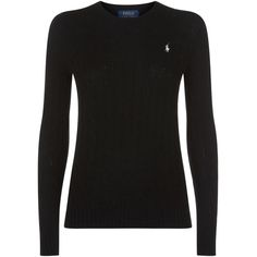 Polo Ralph Lauren Crew Neck Sweater ($160) ? liked on Polyvore featuring  tops,