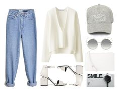 """""""Mom Jeans"""" by eva-jez ❤ liked on Polyvore featuring Uniqlo, Alexander Wang, Y-3, Marc Jacobs and MANGO"""