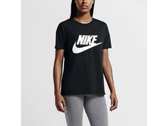 Nike Signal Logo Women's T-Shirt in black and white Small