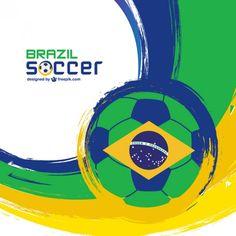Brazil soccer ball vector libre