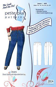 babdc0a3832 Petite Plus Patterns 605 Jeans