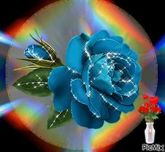 The perfect Floral Blue Love Animated GIF for your conversation. Discover and Share the best GIFs on Tenor. Flowers Gif, Beautiful Flowers, Gif Bonito, Hearts And Roses, Rose Images, Beautiful Gif, Glitter Graphics, Gif Pictures, Love Rose