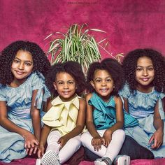The McClure twins with their twin friends Cute Black Babies, Beautiful Black Babies, Cute Twins, Cute Baby Girl, Mom And Baby, Beautiful Children, Cute Babies, Brown Babies, Pretty Black