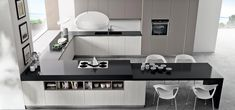 Discover Pentha, our modular modern kitchen, with simple and functional solutions where aesthetics is always aimed at practical everyday use. Modern Kitchen Cabinets, Modern Kitchen Design, Interior Design Kitchen, Kitchen Living, Kitchen Decor, Charming House, Loft Interiors, Cabinet Design, Home Hacks