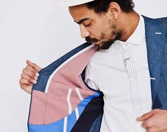 This Chambray blazer from Comme des garcons is pure dopeness.
