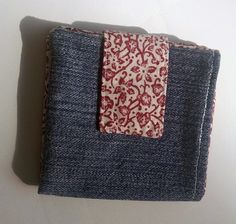 Re-purposed Denim 6 Card Slot Wallet by VioletOrchidBoutique on Etsy
