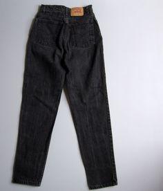 Vtg 90s Levi s 512 High Waisted Tapered Slim Fit Mom Jeans Black 11 Denim  26
