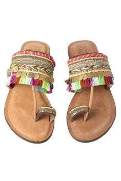 Hippy Style: Tassle Sandals Z&L Europe Sandals, $78, everythingbutwater.com
