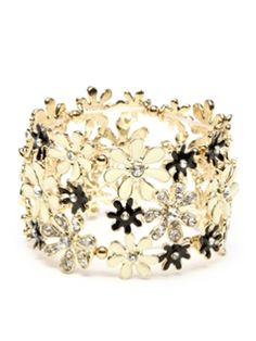 St. Clara Multi-Flower Wide Stretch Bracelet from Amrita Singh: Up to 70% Off on Gilt