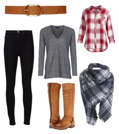 A fashion look from June 2016 featuring plaid long sleeve shirt, linen tee and skinny leg jeans. Browse and shop related looks. Winter Looks, Frame Denim, French Connection, Polyvore Fashion, Ralph Lauren, Shoe Bag, Clothing, Stuff To Buy, Shopping