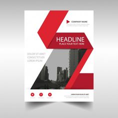 company brochure templates Red and white corporate brochure template Vector Poster Design Layout, Graphic Design Brochure, Corporate Brochure Design, Event Poster Design, Company Brochure, Brochure Layout, Design Posters, Rollup Banner Design, Standing Banner Design