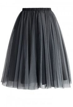 f1d5d2f6d9 Amore Mesh Tulle Skirt in Smoke - Bottoms - Retro, Indie and Unique Fashion  Tutu