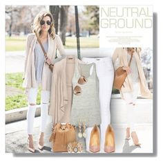 """#545 - Cool Neutrals"" by lilmissmegan ❤ liked on Polyvore featuring rag & bone, Open End, T By Alexander Wang, Christian Louboutin, Proenza Schouler, Marc by Marc Jacobs, Ruby Rd., Panacea, GetTheLook and blogger"