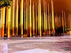 Plaza Cisneros,also known as Luces Park or Lights Park in Medellín