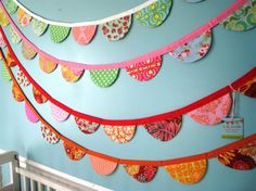 bright and cheery garland for girls' room