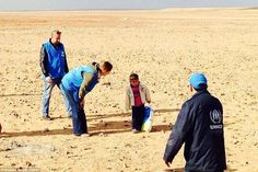 #Daily_Mail 2014 Feb. 18th ~ Picture of a four-year-old boy attempting to cross the desert from Syria into Jordan by himself after the young refugee was separated from his family | Mail Online