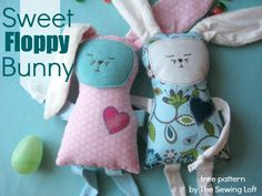 Ready to sew up a free downloadable floppy bunny pattern? This one uses scraps and is easy enough for beginning sewists!