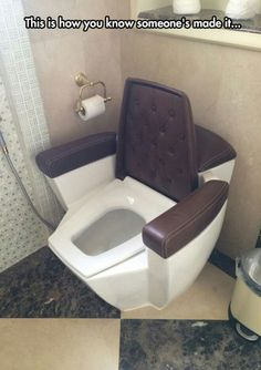 With such comfortable toilet, I can bet my husband will take a very long time in bathroom. Toilet Cost, Toilette Design, Dream Bathrooms, Ceiling Design, Bathroom Interior, Home Interior Design, Furniture Design, Bedroom Decor, Home Decor