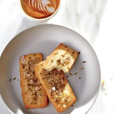 Any salty hard cheese, such         as an aged Manchego, Grana Padano, or         Mimolette, would be a fine substitute for         the Parmesan. This recipe is from Caitlin         Williams Freeman's upcoming cookbook,         The Blue Bottle Craft of Coffee.