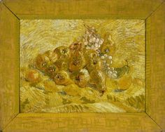 This striking still life is less concerned with depicting fruit than experimenting with different shades of yellow. Van Gogh has even painted the frame yel...
