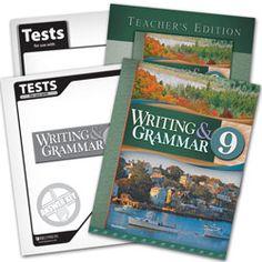 BJU Press Homeschool   Writing & Grammar 9 Subject Kit