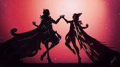 xayah and rakan dance by Heraklia