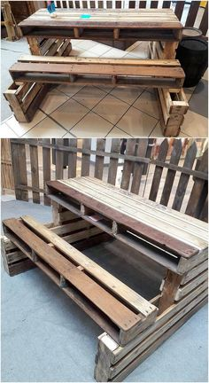 Now this is what we call a bench design! This majestic and a awe-inspiring creation of the wood pallet for the bench designing is breath-taking to watch it all around. Numerous added with the wood framing, this design is a must to add in your house area.