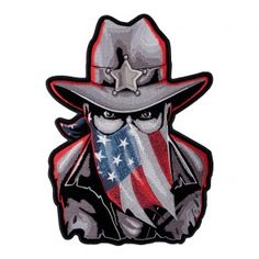 Subdued Western Sheriff American Flag Sew On Patch for Sale Tactical Patches 01289d13351