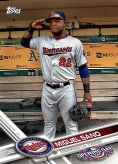 2017 Topps Opening Day #134 Miguel Sano Front