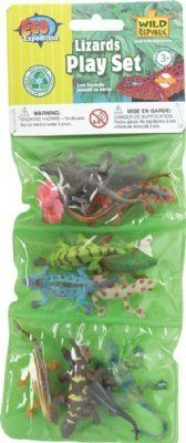 Eco Expedition Lizard Playset: Dozen Plastic Mini Reptile Toy Figures by K Toys. $5.19. Set of Mini Lizard Figures. Packaging: Polybag with Header Card. Eco Expedition set of miniature toy figures includes a dozen different realistic lizards that measure up to 2.5 inches long. Made from flexible plastic.