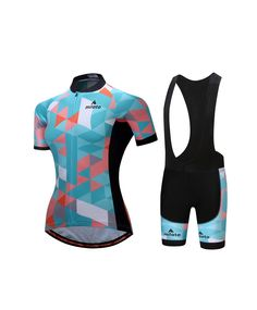 Cycling Kit Women s Bicycle Clothing Bike Cycle Jersey and Bib Shorts  Padded Set 2cc965ce9