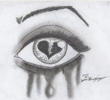 Image result for corazon roto a lapiz