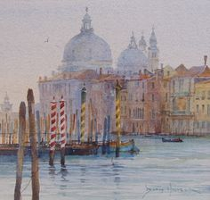 David Howell, Venice, watercolor