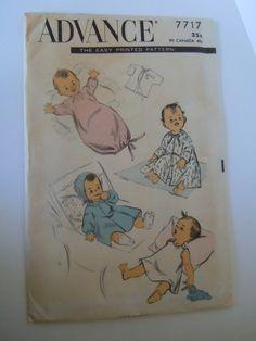 Advance Baby Pattern. $1.00, via Etsy.