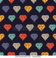 vintage diamond #pattern - stock vector  #design #graphic #vector #illustration #background