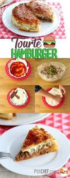 You like cheeseburger? You like pies? - Recipe Main Dish : Cheeseburger pie, a burger to share! Cheese Burger, Köstliche Desserts, Delicious Desserts, Yummy Food, Pizza Recipes, Cake Recipes, Spice Dump Cake Recipe, Hamburger Pizza, Empanadas